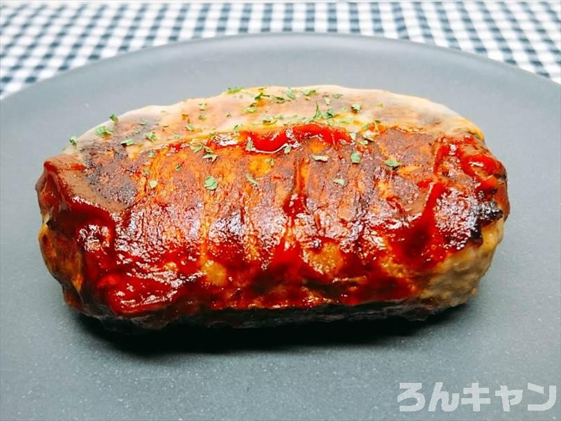 ホットサンドメーカーで焼いたハンバーグ