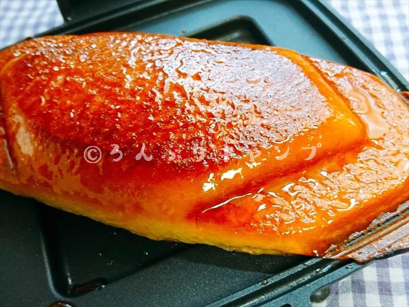 ホットサンドメーカーで焼いた後の揚げパン