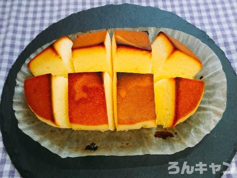 オーブントースターで焼いた北海道チーズ蒸しケーキ