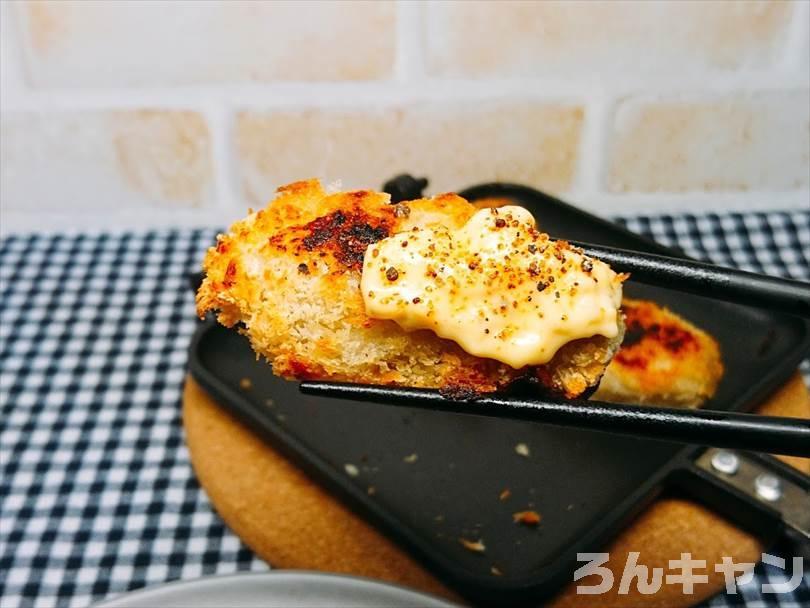 タルタルソース&マキシマムをかけた焼きカキフライ