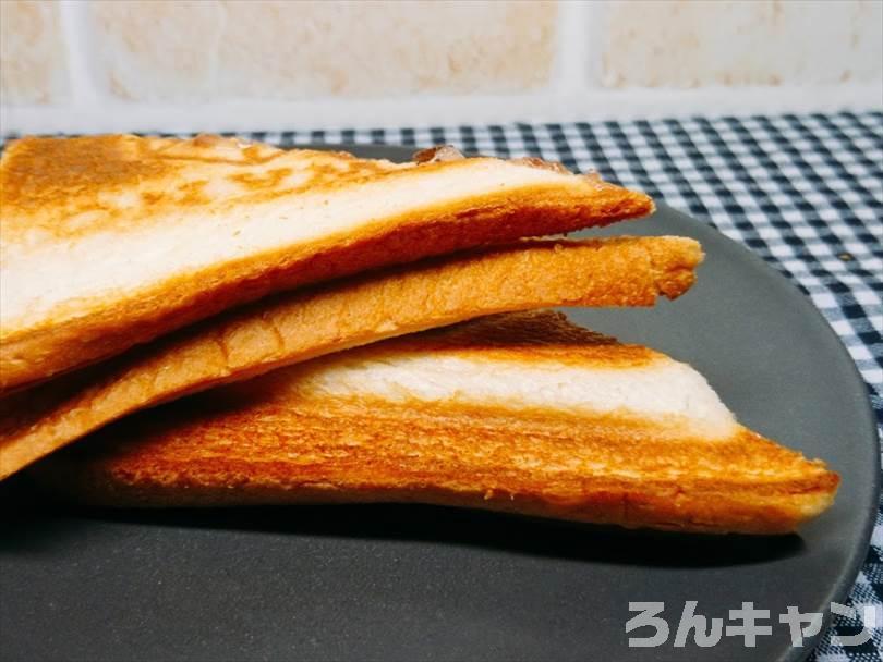 ホットサンドメーカーで焼いた豆大福ホットサンド