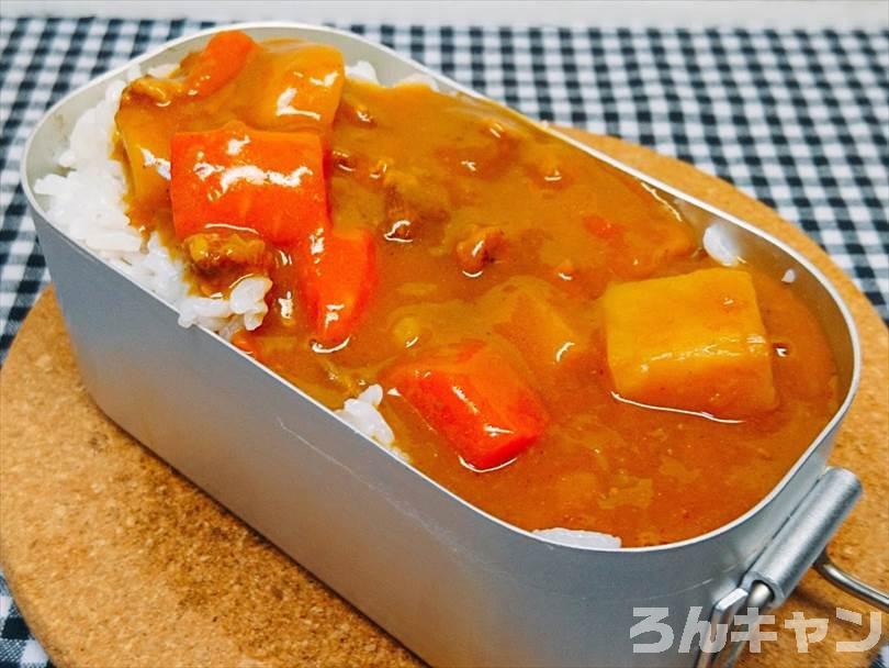 ST-310でメスティン炊飯をしてカレーを食べる