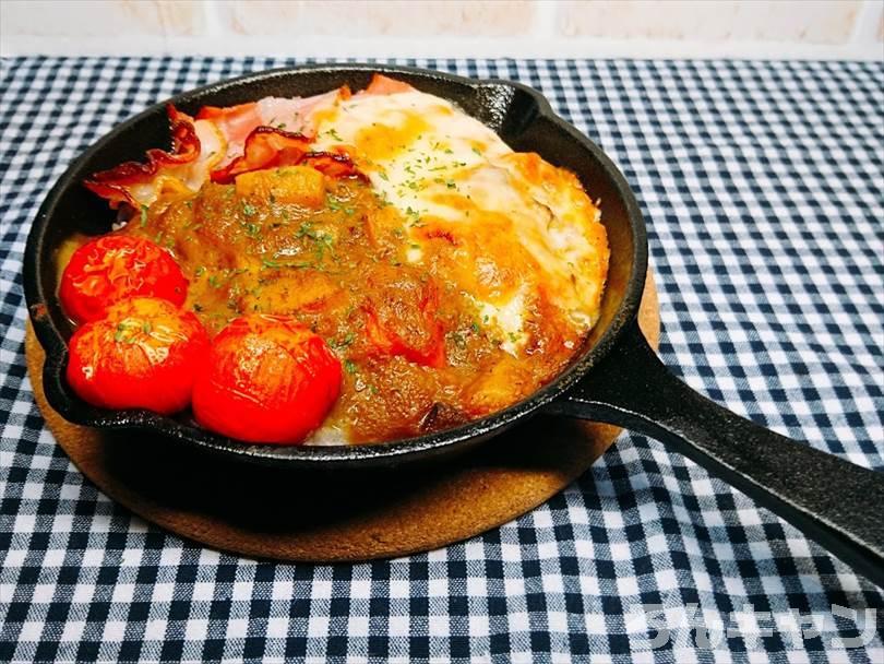 ダイソーのスキレット(300スキ)で作った焼きカレー