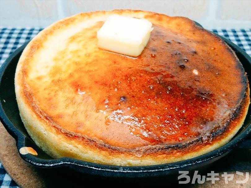 ダイソーのスキレットで作ったふわふわパンケーキ