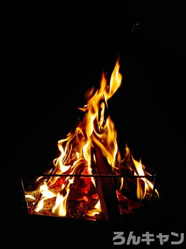 『TokyoCamp 焚き火台』で焚き火