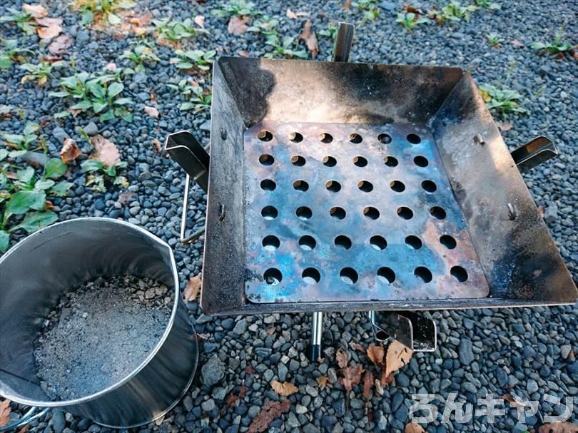火消し壺にダイソーのオイルポットを使用