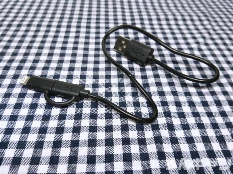 WAQ LEDランタンの付属品のMicro 5pin USBケーブル 1個(キャップ式)