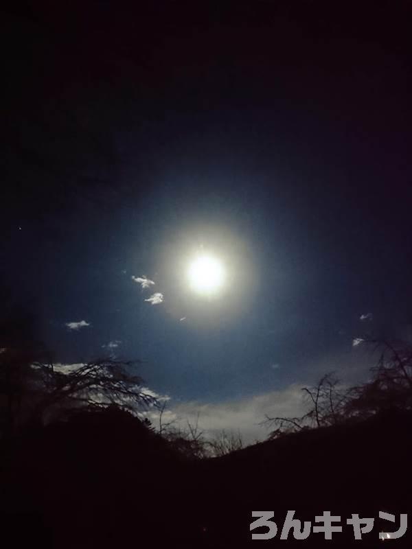 キャンプでお月見