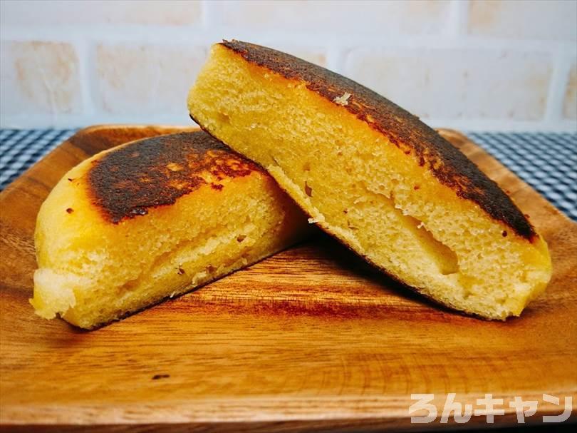 家事ヤロウで紹介された焼き蒸しパンを再現(蒸しパンをホットサンドメーカーで焼くだけで簡単・美味しい)