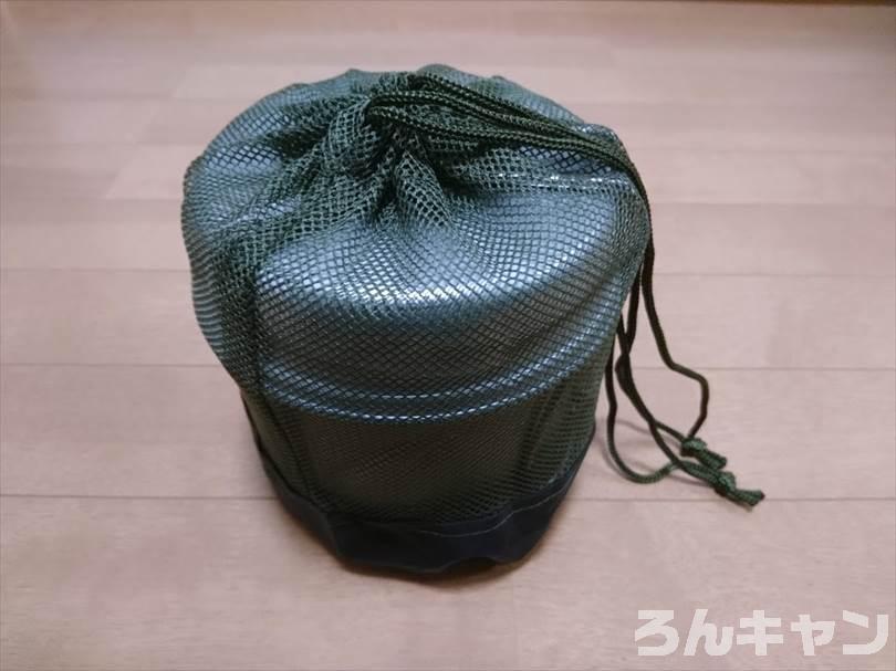セリアのプラ食器用メッシュバッグをトレック1400のケースに使用