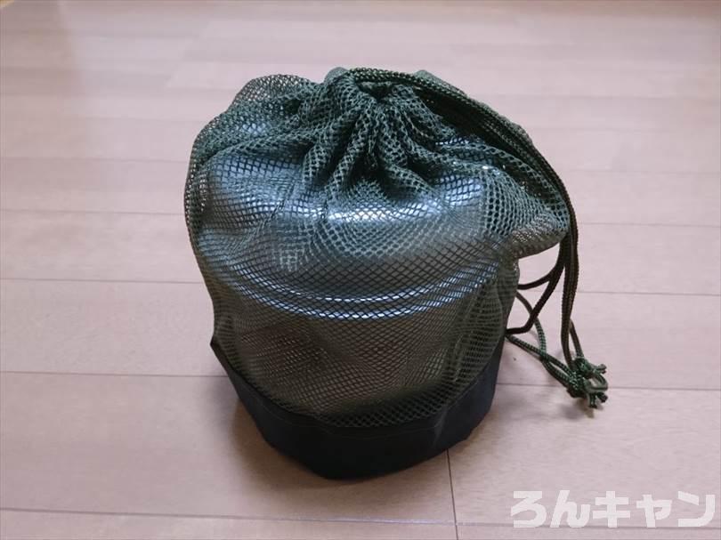 セリアのプラ食器用メッシュバッグをトレック900のケースに使用