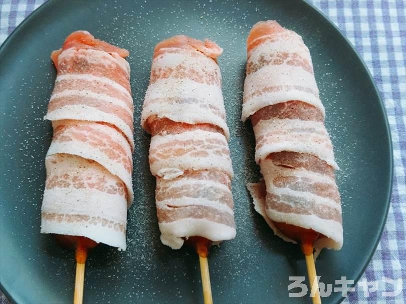 家事ヤロウで紹介された『豚バラ肉巻きみたらし団子』をホットサンドメーカーで焼く