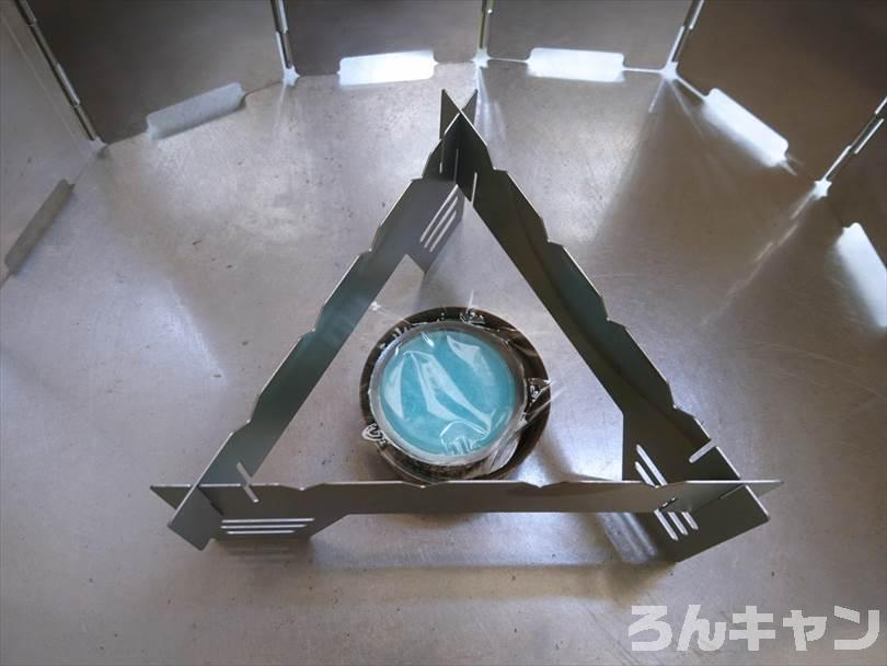 ダイソーの固形燃料(25g)でサッポロ一番塩ラーメンをつくる
