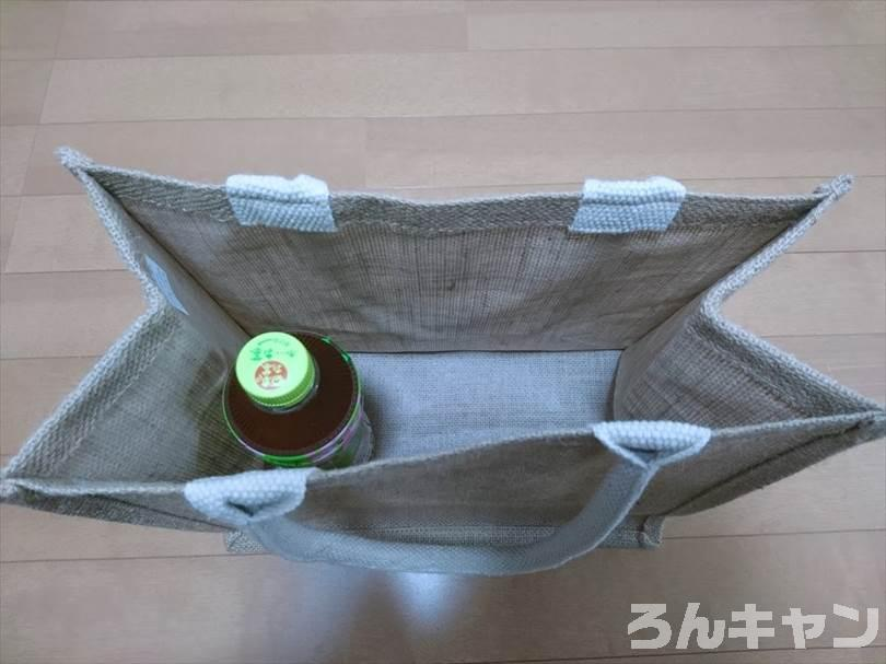 無印良品のジュートマイバッグはキャンプに使える(丈夫で見た目もオシャレ)