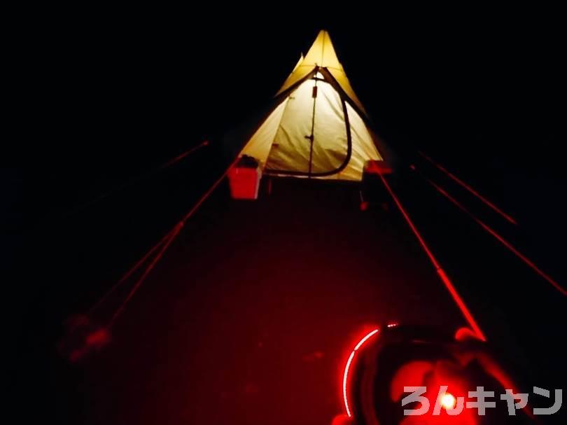 GEERTOPの反射材入りガイロープ(4mm・6本)は夜間でも脚を引っかけて転びにくい