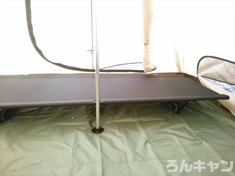 『VENTLAX』の2WAYアジャスタブルコットは快適な寝心地でキャンプでぐっすり眠れる