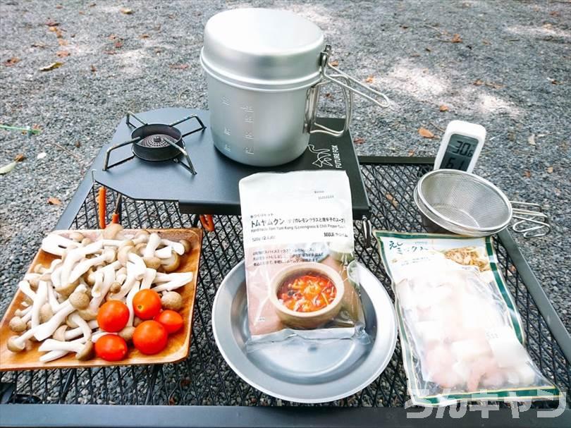 YOLER メッシュテーブルは広くて料理がしやすい